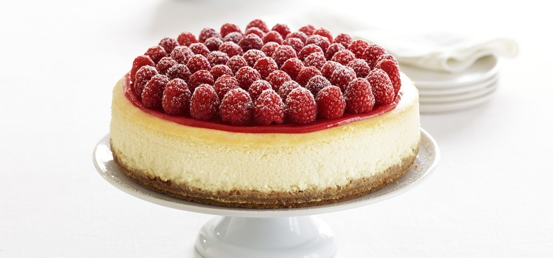 cheesecake with rasberry