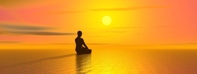 18589696 Meditation by sunset
